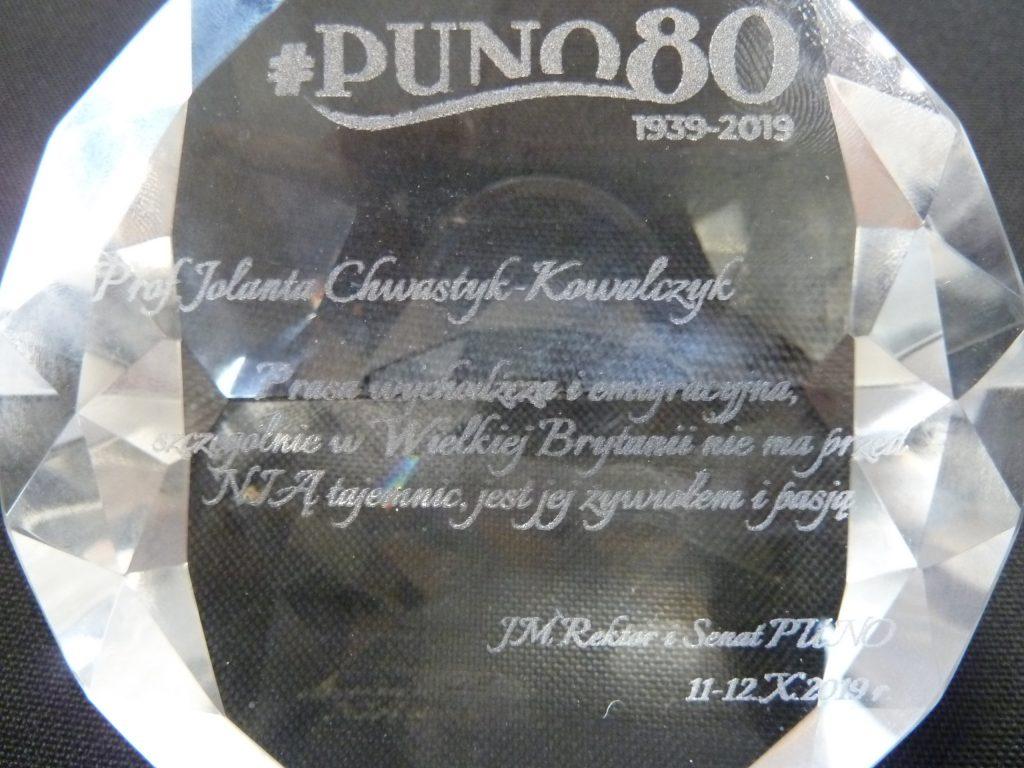 P1020755-1024x768 Diament PUNO dla prof. Jolanty Chwastyk-Kowalczyk