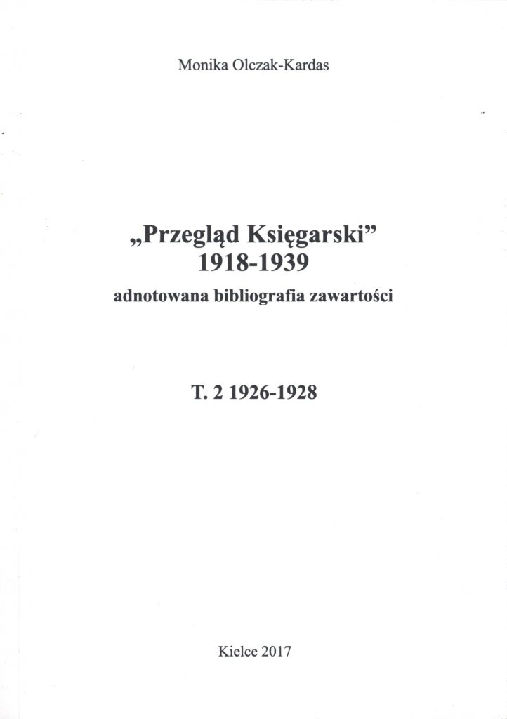 OklPrzegladKsiegarskiT2-2017-722x1024 dr hab. prof. UJK Monika Olczak-Kardas