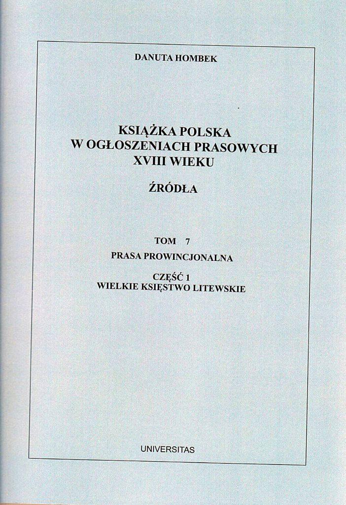 publikacja_DH_t.7-702x1024 prof. zw. dr hab. Danuta Hombek